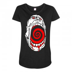 screaming face Maternity Scoop Neck T-shirt | Artistshot