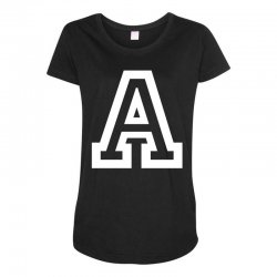 A Initial Name Maternity Scoop Neck T-shirt | Artistshot