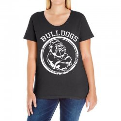 Bulldog Sports Team Ladies Curvy T-Shirt | Artistshot