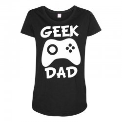 geek dad Maternity Scoop Neck T-shirt | Artistshot