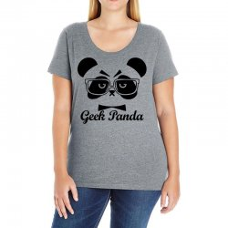 Geek Panda Ladies Curvy T-Shirt | Artistshot