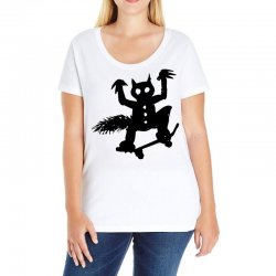 wild thing on a skateboard Ladies Curvy T-Shirt | Artistshot