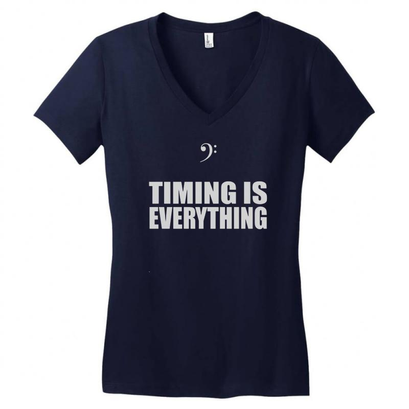 Bass Player Timing Is Everything Women's V-neck T-shirt | Artistshot