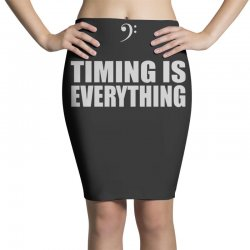 bass player timing is everything Pencil Skirts | Artistshot