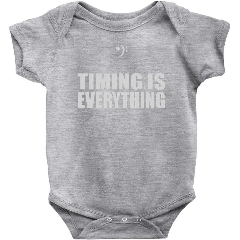 Bass Player Timing Is Everything Baby Bodysuit | Artistshot