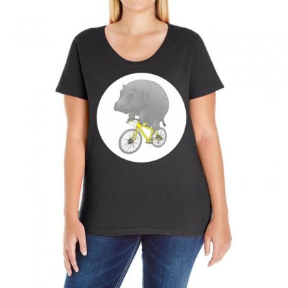 Dont Forget The Helmet Ladies Curvy T-shirt Designed By Specstore