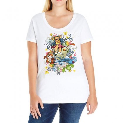 Happy Day Adventure Ladies Curvy T-shirt Designed By Specstore