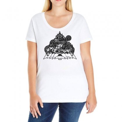 Ilumination Doodle Ladies Curvy T-shirt Designed By Specstore