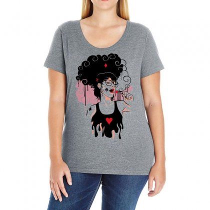 Lollipop Girl Ladies Curvy T-shirt Designed By Specstore