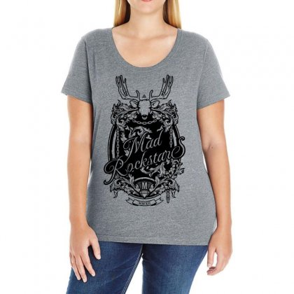 Mad Rockstar Myth Ladies Curvy T-shirt Designed By Specstore