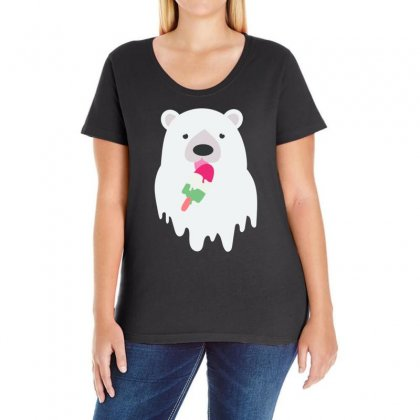 Melted Polar Cream Ladies Curvy T-shirt Designed By Specstore