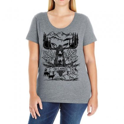 Oh Canada Ladies Curvy T-shirt Designed By Specstore