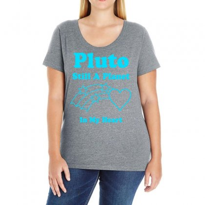 Pluto Still A Planet In My Heart Ladies Curvy T-shirt Designed By Specstore
