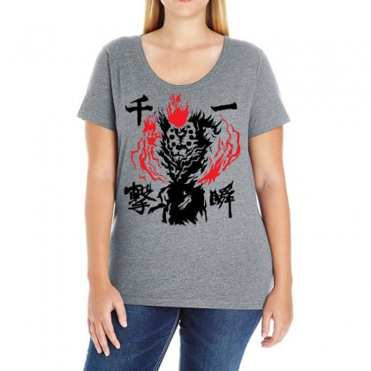 Raging Demon Ladies Curvy T-shirt Designed By Specstore