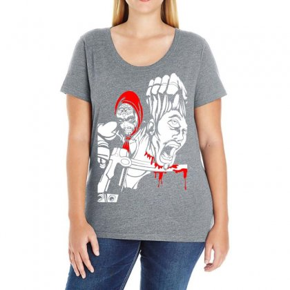 Red Murder Ladies Curvy T-shirt Designed By Specstore