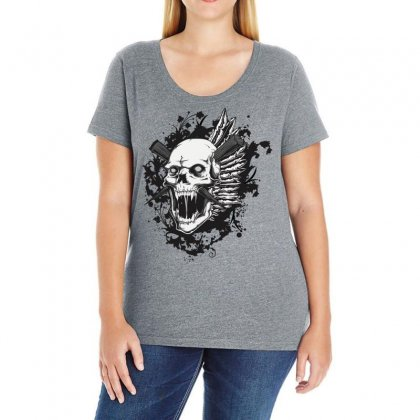 Sealed Vampire Skull Ladies Curvy T-shirt Designed By Specstore