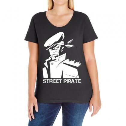Street Pirate Ladies Curvy T-shirt Designed By Specstore