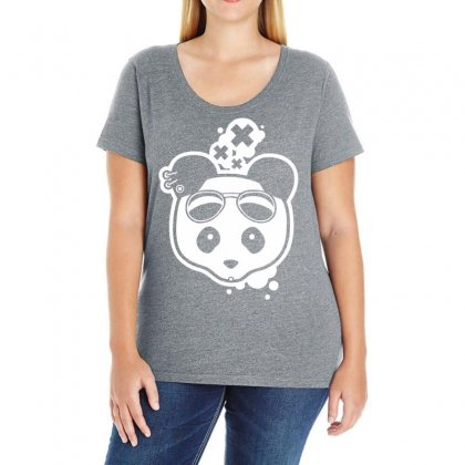 Super Hippies Panda Ladies Curvy T-shirt Designed By Specstore