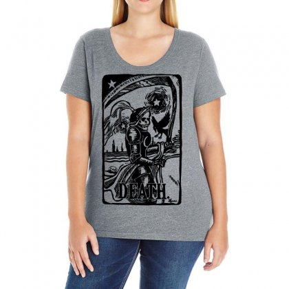 Tarot Death Card Ladies Curvy T-shirt Designed By Specstore