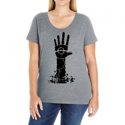 The Unperson Hand Ladies Curvy T-shirt Designed By Specstore