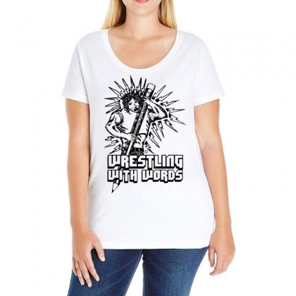 Wrestling With Words Ladies Curvy T-shirt Designed By Specstore