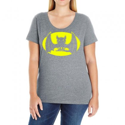 Bat Moon Ladies Curvy T-shirt Designed By Specstore