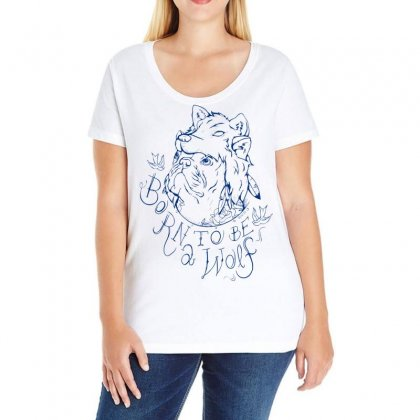 Born To Be A Wolf Ladies Curvy T-shirt Designed By Specstore