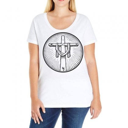 Easter Sunday Cross Ladies Curvy T-shirt Designed By Specstore