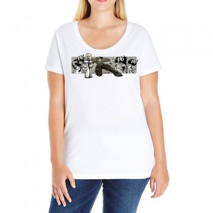 Graffiti Man Ladies Curvy T-shirt Designed By Specstore