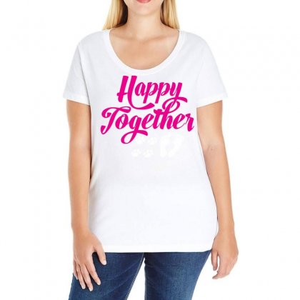 Happy Together With Pet Ladies Curvy T-shirt Designed By Specstore