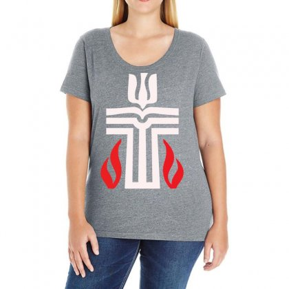 Holy Sunday Easter Logo Ladies Curvy T-shirt Designed By Specstore