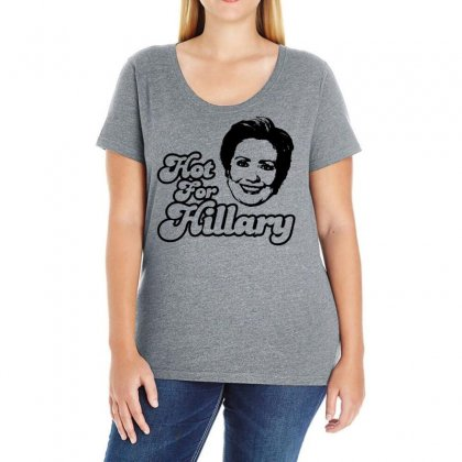 Hot For Hillary Ladies Curvy T-shirt Designed By Specstore