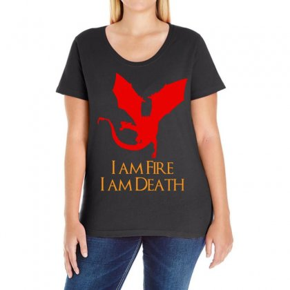 I Am Fire I Am Death Ladies Curvy T-shirt Designed By Specstore