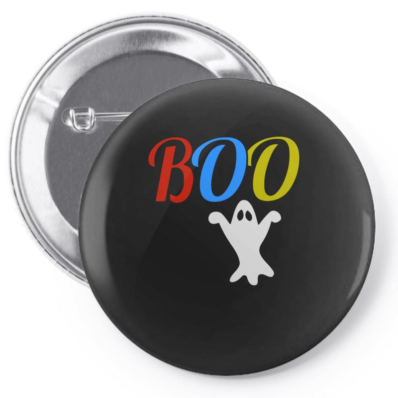 c5ea95359299c Custom Boo Halloween Pin-back Button By Riksense - Artistshot