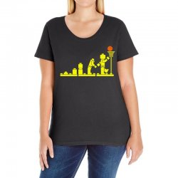 evolution lego basketball sports funny Ladies Curvy T-Shirt | Artistshot