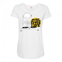 music is life Maternity Scoop Neck T-shirt | Artistshot