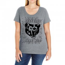 Stay Free Stay Wild Ladies Curvy T-Shirt | Artistshot