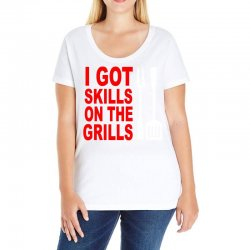 got skills on the grills apron Ladies Curvy T-Shirt | Artistshot