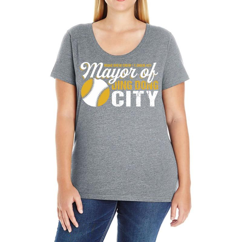 Travis Shaw - Mayor Of Ding Dong City Ladies Curvy T-shirt | Artistshot