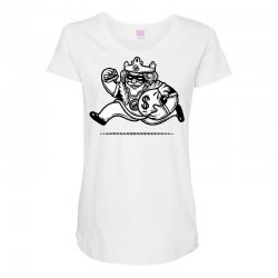 the burglar king Maternity Scoop Neck T-shirt | Artistshot