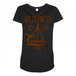 wilderness camper Maternity Scoop Neck T-shirt | Artistshot