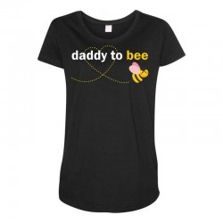 Daddy To Bee Maternity Scoop Neck T-shirt | Artistshot