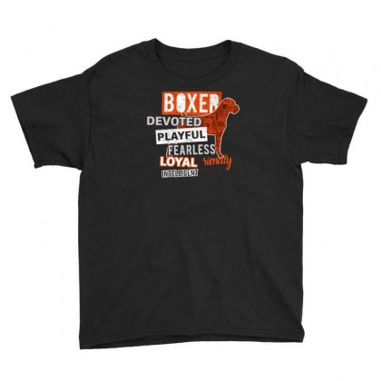 Devoted Boxer Youth Tee Designed By Riksense