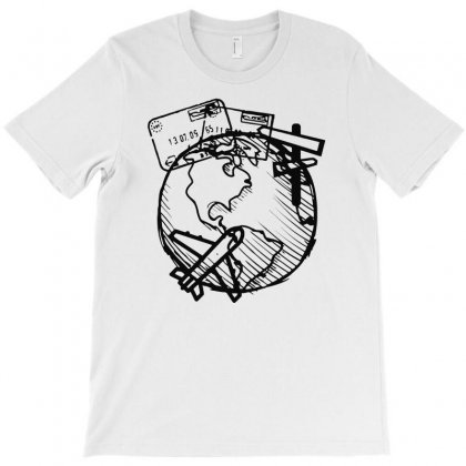 Explore, Travel, Live And Love Life T-shirt Designed By Riksense