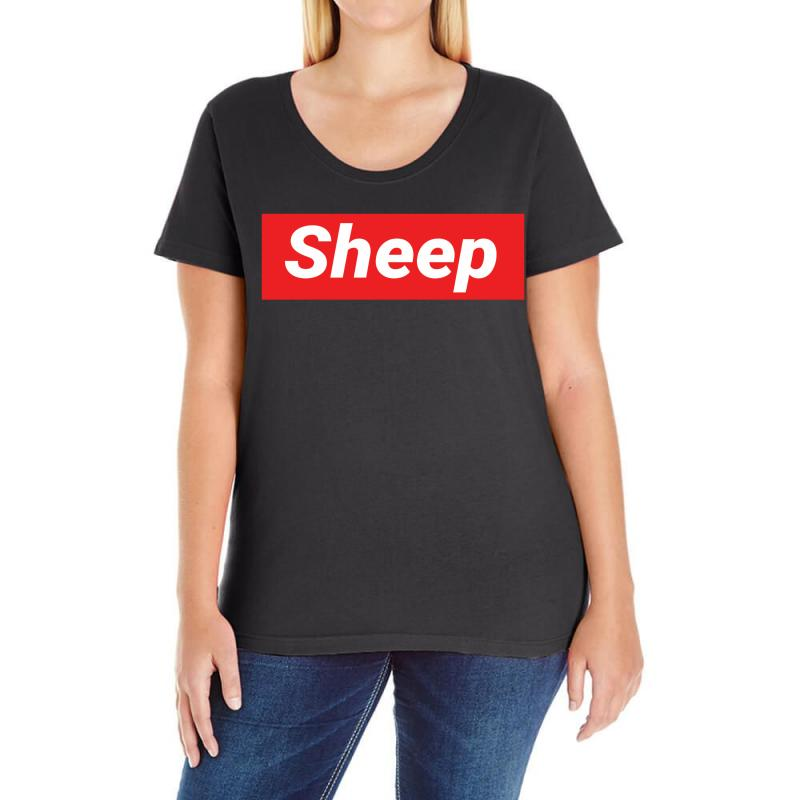 282912c89f1b Custom Sheep (idubbbz Merch) Supreme Ladies Curvy T-shirt By Tshiart ...