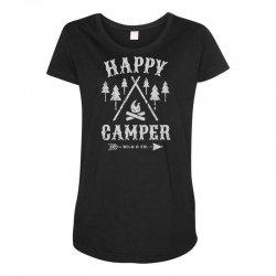 happy camping Maternity Scoop Neck T-shirt | Artistshot