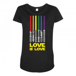Lightsaber Rainbow - Love Is Love Maternity Scoop Neck T-shirt | Artistshot