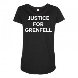 Justice For Grenfell Maternity Scoop Neck T-shirt | Artistshot