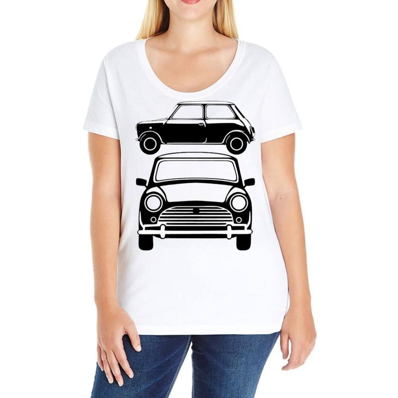 Classic Mini Ideal Birthday Gift Or Present Ladies Curvy T Shirt