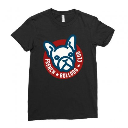 French Bulldog Club Ladies Fitted T-shirt Designed By Riksense